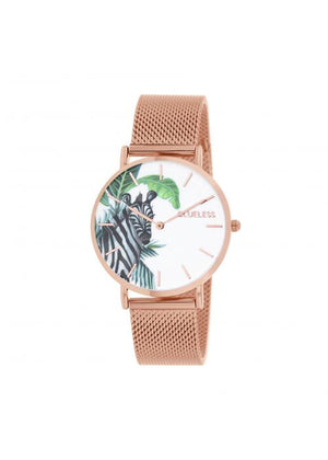 Clueless Montre Femme -  Cadran multicolore - Collection TROPICAL-MESH OR ROSE /  ROSE | BCL10034-071