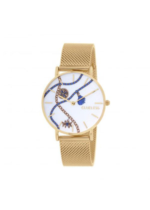 Clueless Montre Femme -  Cadran multicolore - Collection UNCHAINED-MESH OR / OR  | BCL10034-080