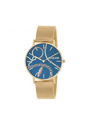 Clueless Montre Femme -  Cadran multicolore - Collection UNCHAINED-MESH OR / OR  | BCL10034-081