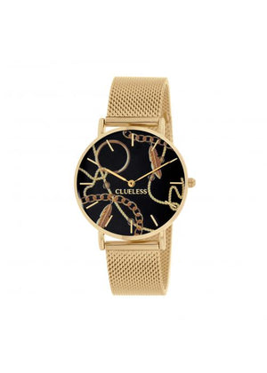 Clueless Montre Femme -  Cadran multicolore - Collection UNCHAINED-MESH OR / OR  | BCL10034-082