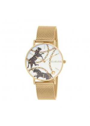 Clueless Montre Femme -  Cadran multicolore - Collection UNCHAINED-MESH OR / OR  | BCL10034-084