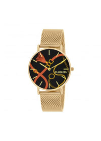 Clueless Montre Femme -  Cadran multicolore - Collection UNCHAINED-MESH OR / OR  | BCL10034-085