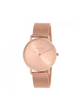 Clueless Montre Homme -  Cadran rose - Collection HOMMES-MESH  OR ROSE / ROSE | BCL10213-812
