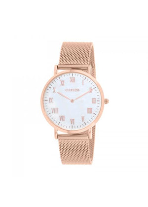 Clueless Montre Homme -  Cadran blanc - Collection HOMMES-MESH  OR ROSE /  ROSE | BCL10213-821