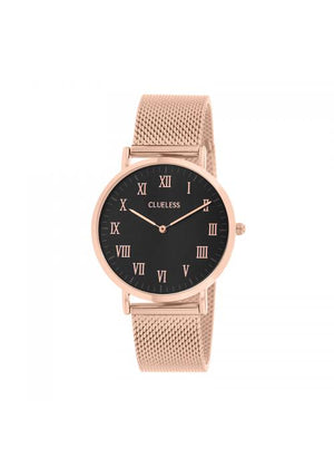 Clueless Montre Homme -  Cadran noir - Collection HOMMES-MESH  OR ROSE / ROSE | BCL10213-823