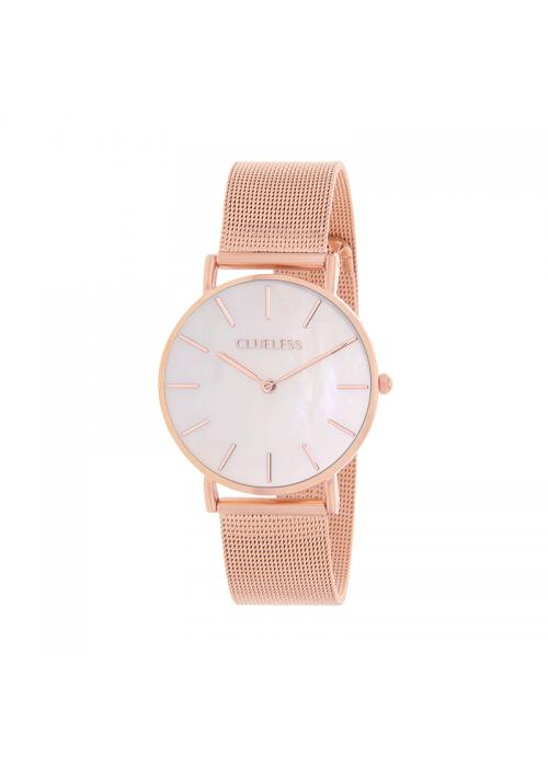 Clueless Montre Femme - Collection ECLIPSE - Mesh rose - Cadran NACRE| BCL10230 - 002RG