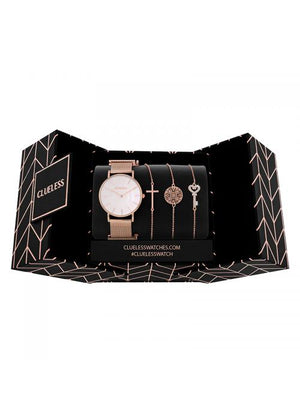 Clueless Montre Femme - Collection ECLIPSE - Mesh rose - Cadran NACRE| BCL10230 - 004RG