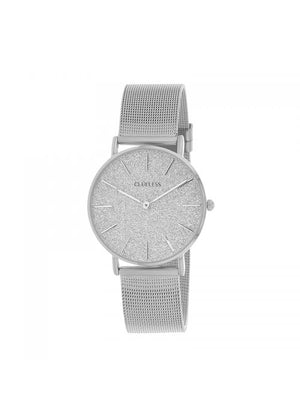 Clueless Montre Femme - Collection SPARKLE - Mesh ARGENT - Cadran ARGENT| BCL10254 - 204