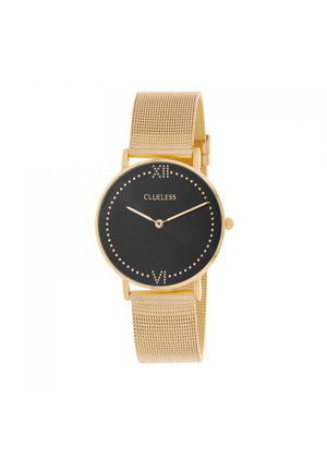 Clueless Montre Femme - Collection EMPIRE - Mesh DORE - Cadran NOIR| BCL10264 - 103