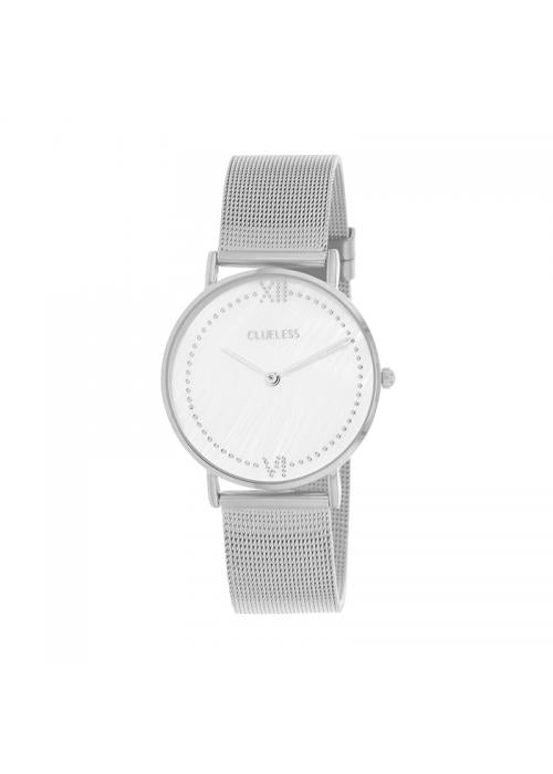 Clueless Montre Femme - Collection EMPIRE - Mesh ARGENT - Cadran ARGENT| BCL10264 - 204