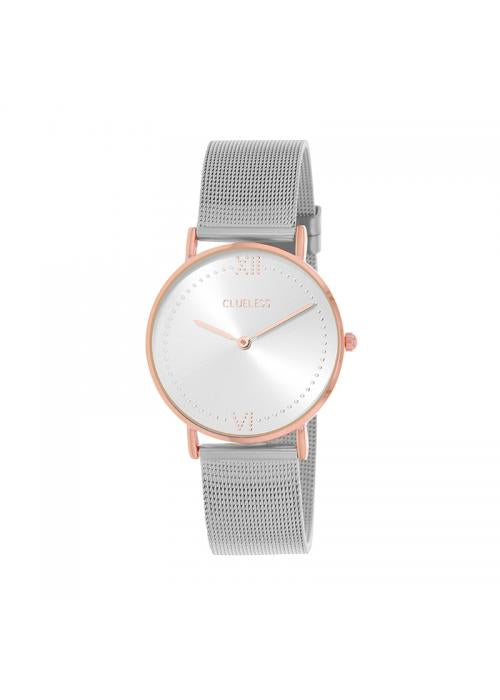 Clueless Montre Femme - Collection EMPIRE - Mesh ARGENT - Cadran ARGENT| BCL10264 - 301