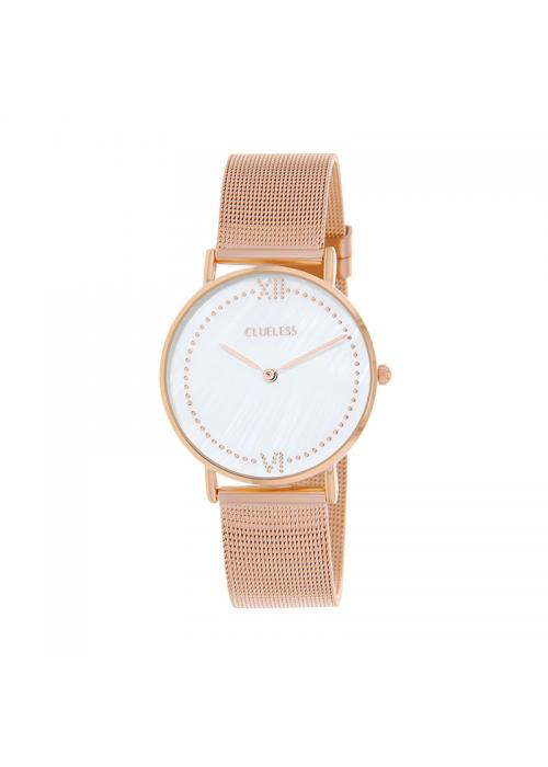 Clueless Montre Femme - Collection EMPIRE - Mesh ROSE - Cadran ARGENT| BCL10264 - 801