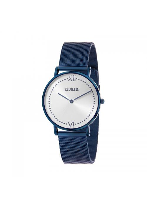 Clueless Montre Femme - Collection EMPIRE - Mesh BLEU - Cadran ARGENT| BCL10264 - 804