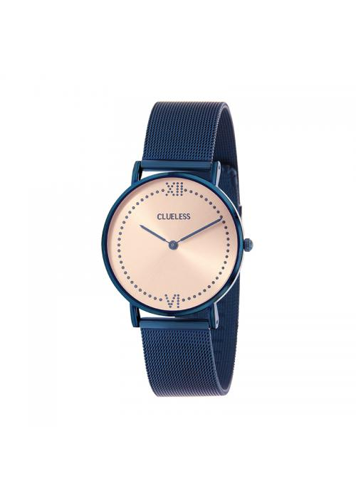 Clueless Montre Femme - Collection EMPIRE - Mesh BLEU - Cadran ROSE| BCL10264 - 812