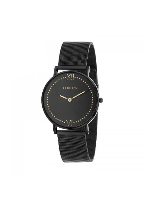 Clueless Montre Femme - Collection EMPIRE - Mesh NOIR - Cadran NOIR| BCL10264 - 902
