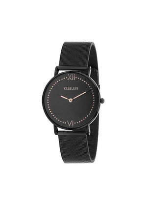 Clueless Montre Femme - Collection EMPIRE - Mesh NOIR - Cadran NOIR| BCL10264 - 912