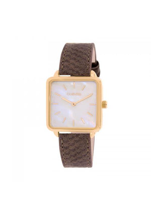 Clueless Montre Femme - Collection FAME - Cuir TAUPE - Cadran NACRE| BCL10272 - 005