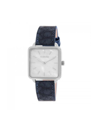 Clueless Montre Femme - Collection FAME - Cuir BLEU - Cadran BLANC| BCL10272 - 007