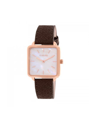 Clueless Montre Femme - Collection FAME - Cuir CHOCOLATLAT - Cadran NACRE| BCL10272 - 008