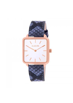 Clueless Montre Femme - Collection FAME - Cuir BLEU - Cadran BLANC| BCL10272 - 009