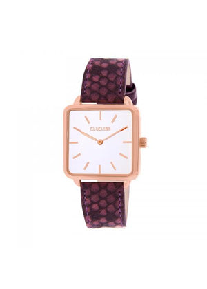 Clueless Montre Femme - Collection FAME - Cuir ROSE - Cadran BLANC| BCL10272 - 010
