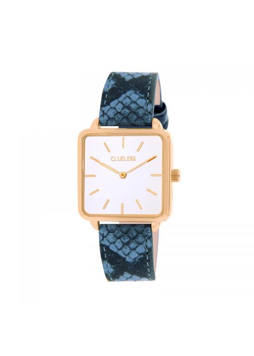 Clueless Montre Femme - Collection FAME - Cuir TURQUOISE - Cadran BLANC| BCL10272 - 011