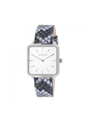 Clueless Montre Femme - Collection FAME - Cuir CIEL - Cadran BLANC| BCL10272 - 012