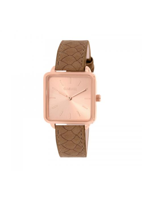 Clueless Montre Femme - Collection FAME - Cuir TAN - Cadran ROSE| BCL10272 - 015