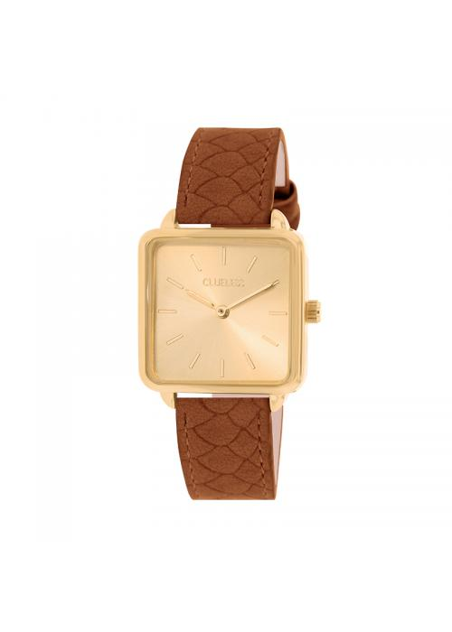 Clueless Montre Femme - Collection FAME - Cuir CAMEL - Cadran CHAMPAGNE| BCL10272 - 017
