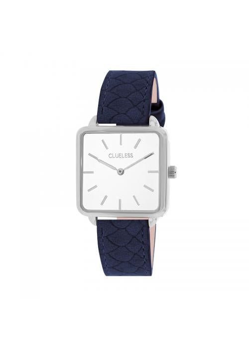Clueless Montre Femme - Collection FAME - Cuir MARINE - Cadran BLANC| BCL10272 - 018