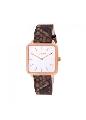 Clueless Montre Femme - Collection FAME - Cuir taupe - Cadran BLANC| BCL10272 - 020