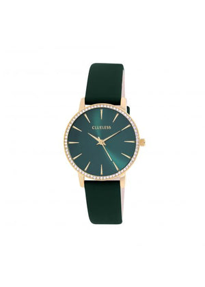 Clueless Montre Femme -  Cadran vert - Collection SPARKLE-CUIR VERT / OR | BCL10282-107