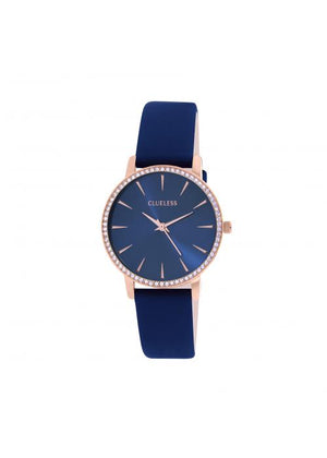 Clueless Montre Femme -  Cadran bleu - Collection SPARKLE-CUIR BLEU / ROSE | BCL10282-808