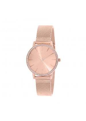 Clueless Montre Femme -  Cadran rose - Collection SPARKLE-MESH  OR ROSE / ROSE | BCL10284-812