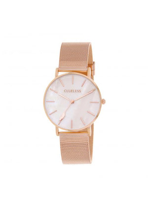 Clueless Montre Femme -  Cadran nacre - Collection CLASSIC-MESH OR ROSE /  ROSE | BCL10304-012