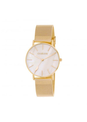 Clueless Montre Femme -  Cadran nacre - Collection CLASSIC-MESH OR / OR | BCL10304-013