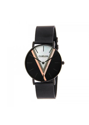 Clueless Montre Femme - Cadran Noir - Collection Deco | BCL10324-001