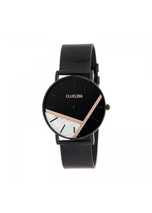 Clueless Montre Femme - Cadran Noir - Collection Deco | BCL10324-002