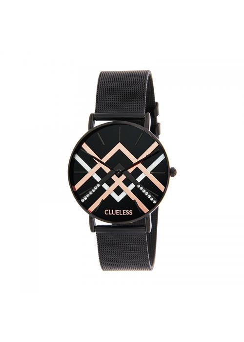 Clueless Montre Femme - Cadran Noir - Collection Deco | BCL10324-004