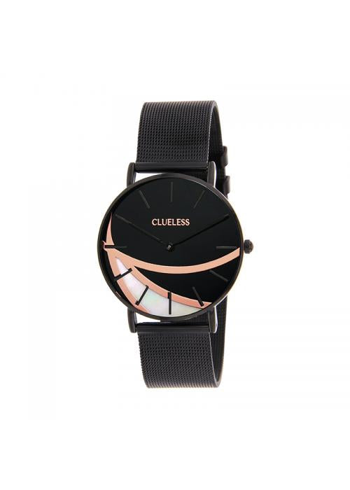 Clueless Montre Femme - Cadran Noir - Collection Deco | BCL10324-006