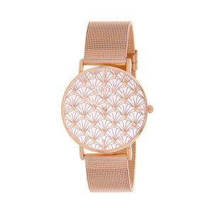 CLUELESS Montre Femme - Collection Déco - Maille Milanaise Rose Gold | BCL10194-011
