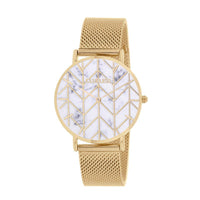 CLUELESS Montre Femme - Collection Déco - Maille Milanaise Dore | BCL10194-110