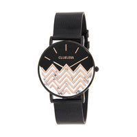 CLUELESS Montre Femme - Collection Déco - Maille Milanaise Noir | BCL10194-901