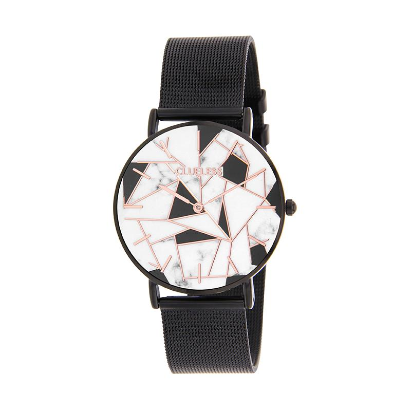 CLUELESS Montre Femme - Collection Déco - Maille Milanaise Noir | BCL10194-902