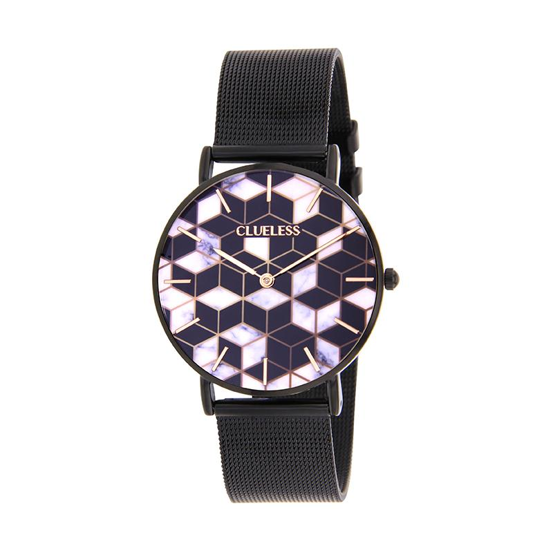 CLUELESS Montre Femme - Collection Déco - Maille Milanaise Noir | BCL10194-903