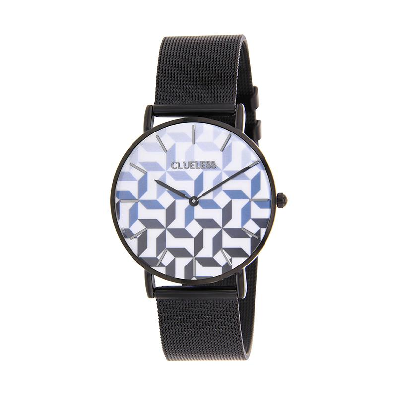 CLUELESS Montre Femme - Collection Déco - Maille Milanaise Noir | BCL10194-905