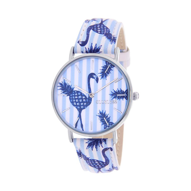 CLUELESS Montre Femme - Collection Tropical - Cuir Multicolore | BCL10032-055