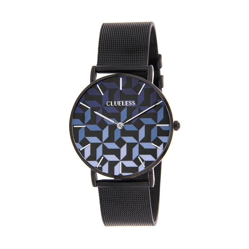 CLUELESS Montre Femme - Collection Déco - Maille Milanaise Noir | BCL10194-906