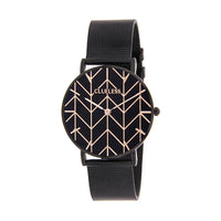 CLUELESS Montre Femme - Collection Déco - Maille Milanaise Noir | BCL10194-910