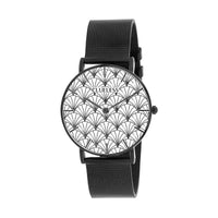 CLUELESS Montre Femme - Collection Déco - Maille Milanaise Noir | BCL10194-911
